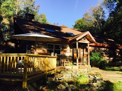 Photo for 4 Bedroom Log Home On 6 Private Acres, Near Town And Ski Resorts