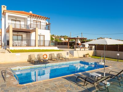 Photo for Villa Angelina: Large Private Pool, Walk to Beach, Sea Views, A/C, WiFi, Car Not Required, Eco-Frien