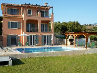 Photo for Beautiful five bedroom villa with sea views and pool in Kefalonia