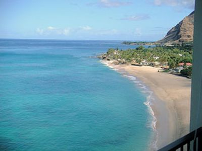 Photo for LEGAL VACATION RENTAL-VERY FEW ON OAHU•CONDO RIGHT ON BEACH•FREE PKG/WiFI