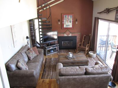 Photo for Ski-In/200 steps to lift,2BR(Loft),2BA, Sleeps 9, Vaulted Ceiling, Heated Garage