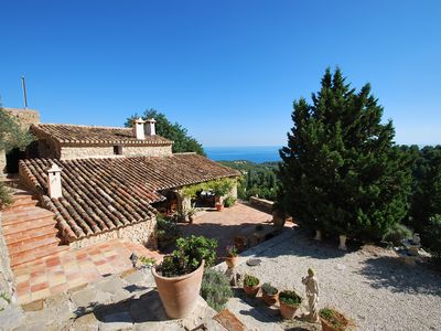 Photo for Fantastic Finca with private pool, sea-view, internet, barbecue place