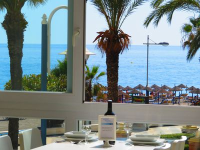 "Photo for LOFT ""Large bay window on the beach"" NERJA (Torrox-Costa). WIFI Pool"