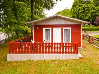 """Photo for Ferienbugalow D """"Am Waldesrand"""" - holiday bungalows on the edge of the beech forest in the Baltic Sea resort of Sellin"""
