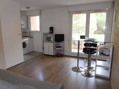Photo for Furnished studio near Toulouse France and Metro station Basso Combo