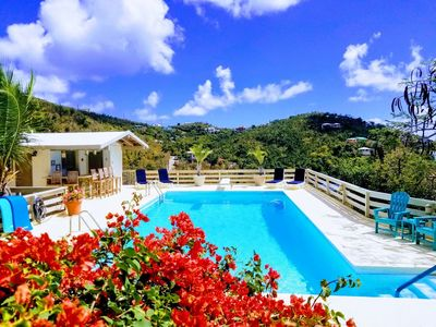 Photo for Beautiful pool villa minutes from Cruz Bay