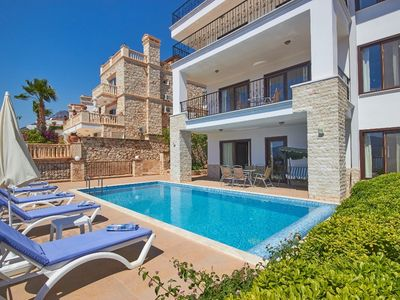 Photo for Spacious 5 Bedroom Villa with Private Pool & Superb Sea Views, 200m from the Sea