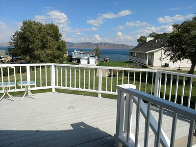 Photo for BLR, 7 Bedroom, Cabin with access to Bear Lake, Basketball Court, walk to town