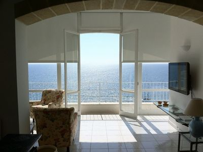 Photo for Luxury villa facing the sea with large garden and spectacular views