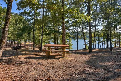 The property sits just north of Lake Greeson.