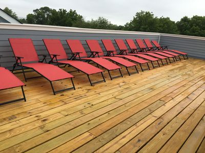 Your tan will never look better after spending a weekend on our roof top deck.