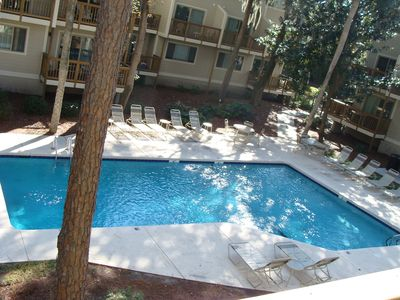 GORGEOUS POOL WITH A GOOD MIX OF SUN AND SHADE FOR YOUR CHOOSING