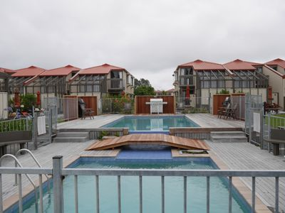 Photo for Resort style, private spa,tennis court,pool,bikes