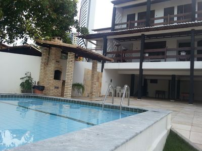 Photo for Luxury home with pool, barbecue, terraces and sea views. Ponta Negra