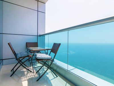 Photo for Top Floor Luxury 2BR Beach Apartment with Full Sea View