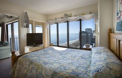 Photo for Angle Oceanfront Two Bedroom Condo + Official On-Site Rental Privileges