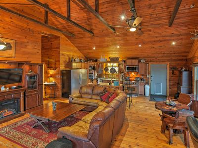 Photo for Rustic Angelica Home w/Deck & Mtn Views on 7 Acres