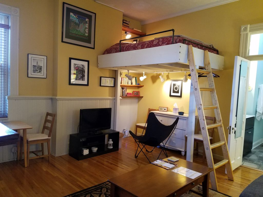 Osu Short North Cozy Loft Bed Studio Apartment In The Center Of Columbus University District