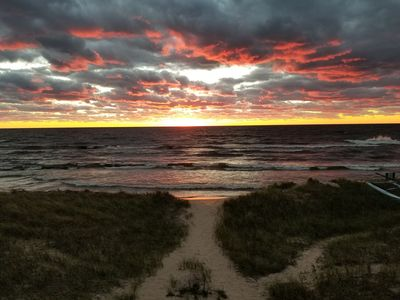 Photo for Beautiful Sunsets On Magnificent Lake Michigan.  Location Location Location