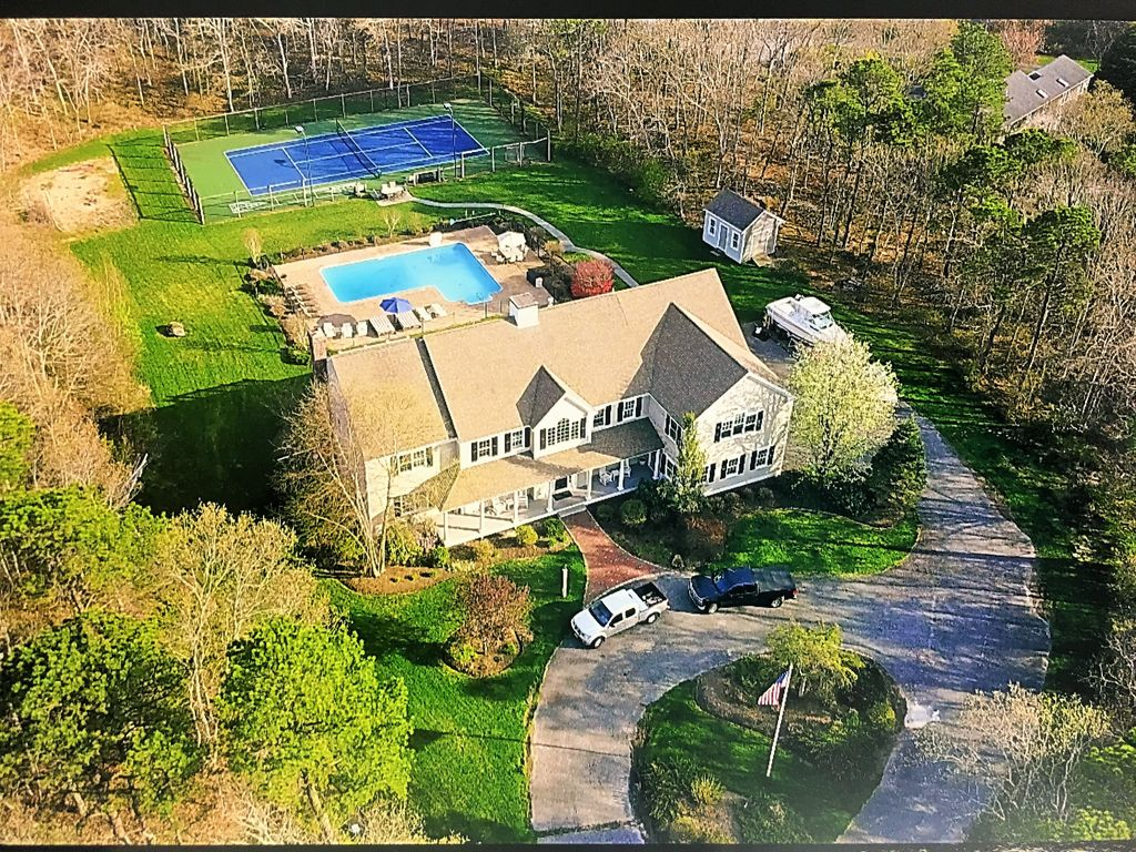 Incredible 4 Acre Estate Pool Home Lighted Tennis Court Numerous Amenities West Barnstable