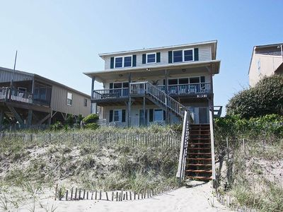 Photo for wireless internet, oceanfront porch and deck with walkway to beach