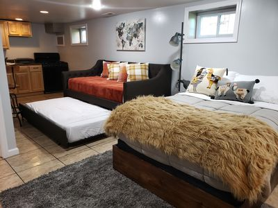 Full bed, Daybed with trundle.  both twin size