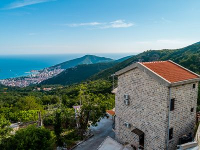 Photo for Top of the Hill Villa with Budva in the Palm of Your Hand!