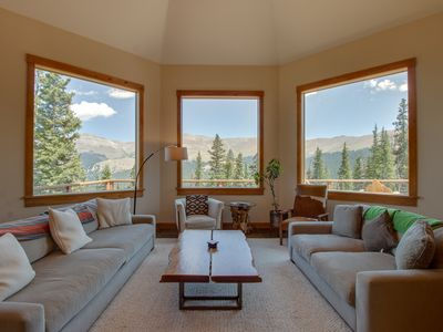Photo for Luxurious home with breathtaking mountain views & privacy - close to ski slopes
