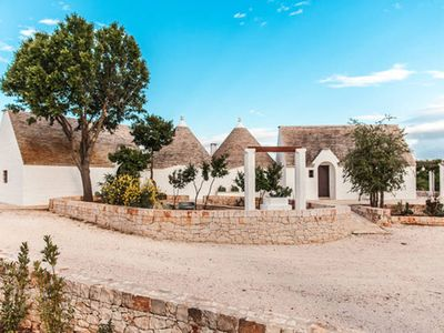 Photo for The Trullo dei Briganti, relaxing on the hill a few steps from the sea
