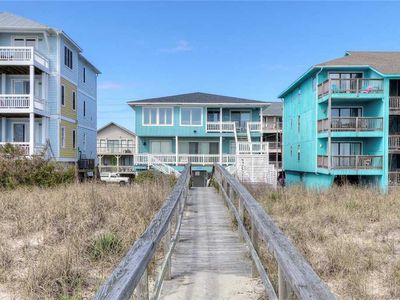 Photo for Shore To Relax Lower: OCEANFRONT in the heart of Carolina Beach with a private walkway to the beach.