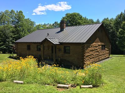 Photo for Spacious Cabin -15 min to Mt Snow - 4 Br / 2 Bath - Sleeps 12 - on 10 acres