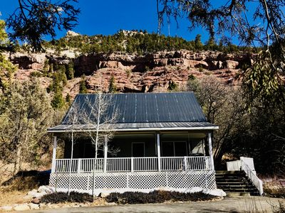 Photo for Romantic Cottage on Private Acreage 5 min. to Downtown-Hot Tub, Incredible Views