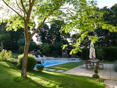 Photo for BRITTANY COUNTRYSIDE RENNAISE CHARMING HOUSE 200 m² WITH SWIMMING POOL CHARM AND QUIET