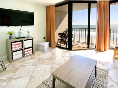 Photo for View Miles & Miles of Beautiful Beach from this 1bd Oceanfront Condo