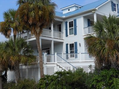 Photo for 5 BR With Fantastic Views on Harbor Island, SC., Golf Cart, Wi-Fi, Beautiful!