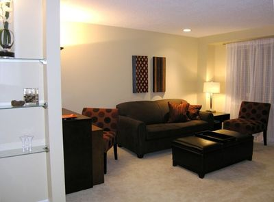 Spacious and Comfortable Living Room with Door to Private Gardens and Bbq
