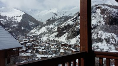 Photo for duplex apartment in valloire center at the foot of the slopes, swimming pool, southern exposure