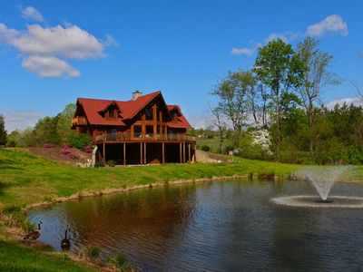 Photo for Luxury Log Cabin, 6,000 sq. ft, Mill Spring, NC, 6 bedrooms, Sleeps 11 - 3.5 Ba