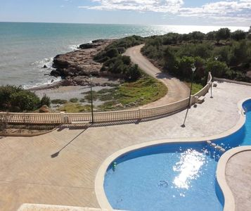 Photo for CASA EDISON - Large Penthouse on 2 floors, 3 bedrooms, parking, communal swimming pool, The beach is