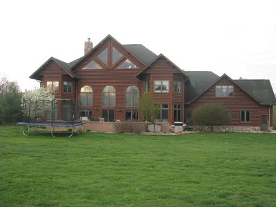 Rear of home.