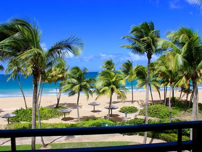 Photo for 2/2 Beachfront inside Wyndham Resort, Puerto Rico