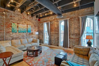 Large living area overlooking Broadway
