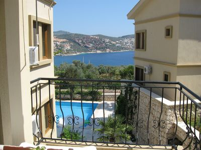 Photo for Duplex Apartment, Private Balcony, Roof Terrace, 5 shared Pools. Central Kalkan.