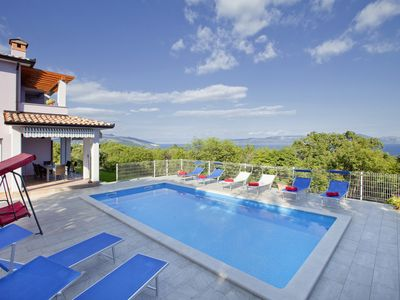 Photo for Villa Mirta * private pool, terrace with sea view, free WiFi, 1 km to the sea