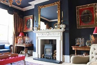 """""""William IV"""" from Drawing Room with fireplace"""