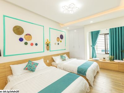 Photo for DaNang-OurHouse-F2-1BR,2beds-Beach 2m-Airport 10m