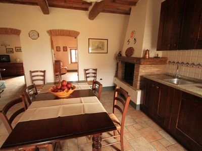 Photo for Country apartment in a small village in Central Tuscany