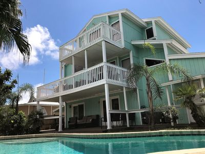 Photo for 5 minute walk to ocean or river- Private Pool, huge game room with pool table