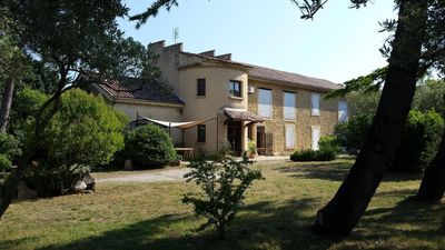 Photo for Provencal and authentic farmhouse with olive trees and a magnificent swimming pool