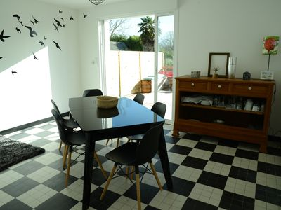 Photo for BAY OF MT ST MICHEL -PLAGE, house with garage, terrace, enclosed garden, free wifi
